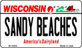 Sandy Beaches Wisconsin State License Plate Novelty Wholesale Magnet M-10630