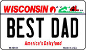 Best Dad Wisconsin State License Plate Novelty Wholesale Magnet M-10655
