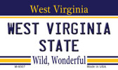 West Virginia University State License Plate Wholesale Magnet M-6507