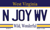 N Joy WV West Virginia State License Plate Wholesale Magnet M-6514