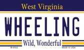 Wheeling West Virginia State License Plate Wholesale Magnet M-6542