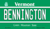 Bennington Vermont State License Plate Novelty Wholesale Magnet M-10670