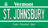St Johnsbury Vermont State License Plate Novelty Wholesale Magnet M-10673