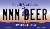MMM Beer South Carolina State License Plate Wholesale Magnet M-6296
