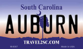 Auburn South Carolina State License Plate Wholesale Magnet M-6307