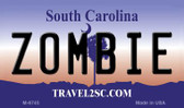 Zombie South Carolina State License Plate Wholesale Magnet M-6745