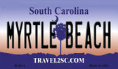Myrtle Beach South Carolina State License Plate Wholesale Magnet M-5414