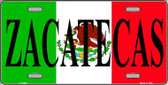 Zacatecas Wholesale Metal Novelty License Plate LP-3443