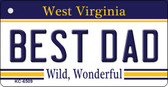 Best Dad West Virginia License Plate Wholesale Key Chain