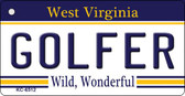 Golfer West Virginia License Plate Wholesale Key Chain