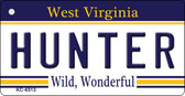 Hunter West Virginia License Plate Wholesale Key Chain