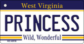 Princess West Virginia License Plate Wholesale Key Chain