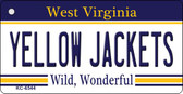 Yellow Jackets West Virginia License Plate Wholesale Key Chain