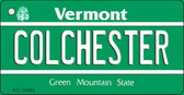 Colchester Vermont License Plate Novelty Wholesale Key Chain