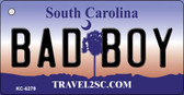 Bad Boy South Carolina License Plate Wholesale Key Chain