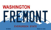Fremont Washington State License Plate Wholesale Magnet M-8662