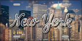 New York Lady Liberty Skyline Wholesale State License Plate LP-11618