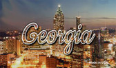 Georgia City Lights Wholesale Magnet M-11593