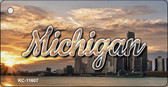 Michigan City Sunset Wholesale Key Chain KC-11607