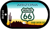 RT 66 Arizona State License Plate Novelty Wholesale Dog Tag Necklace DT-2102
