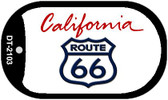 RT 66 California State License Plate Wholesale Dog Tag Necklace DT-2103