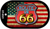 Route 66 American Flag Neon Novelty Wholesale Dog Tag Necklace DT-8521