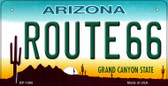 RT 66 Arizona Novelty Wholesale Bicycle License Plate BP-1060