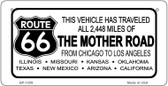 RT 66 Mother Road Novelty Wholesale Bicycle License Plate BP-1259