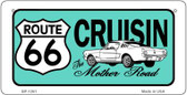 RT 66 Cruisin Mustang Novelty Wholesale Bicycle License Plate BP-1261