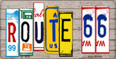 Route 66 License Plate Art Novelty Wholesale Bicycle License Plate BP-7853