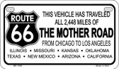 RT 66 Mother Road Novelty Wholesale Motorcycle License Plate MP-1259