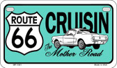 RT 66 Cruisin Mustang Novelty Wholesale Motorcycle License Plate MP-1261