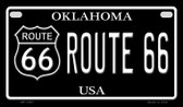 Route 66 Oklahoma Novelty Wholesale Motorcycle License Plate MP-1487