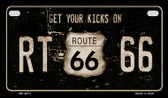 Route 66 Get Your Kicks Novelty Wholesale Motorcycle License Plate MP-4671
