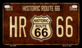 Route 66 Historic Vintage Novelty Wholesale Motorcycle License Plate MP-8569