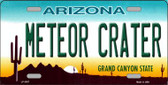 Arizona Meteor Crater Novelty Wholesale Metal License Plate