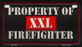 XXL Firefighter Novelty Wholesale Motorcycle License Plate MP-9847