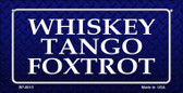 Whiskey Tango Foxtrot Novelty Wholesale Bicycle License Plate BP-8015