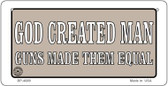 God Created Man Wholesale Bicycle Plate BP-4689