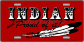 Indian And Proud Wholesale Metal Novelty License Plate LP-360