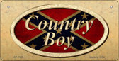 Country Boy Novelty Wholesale Bicycle Plate BP-7959