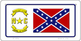 North Carolina Confederate Novelty Wholesale Bicycle Plate BP-8094