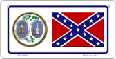 Confederate South Carolina Novelty Wholesale Bicycle Plate BP-10880