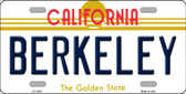 Berkeley California Novelty Wholesale License Plate LP-11432
