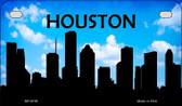 Houston Silhouette Motorcycle License Plate MP-8708