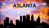 Atlanta Silhouette Motorcycle License Plate MP-8718