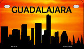 Guadalajara Silhouette Motorcycle License Plate MP-8739