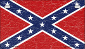 Confederate Flag Distressed Novelty Wholesale Motorcycle License Plate MP-1516