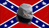 Confederate Cap Novelty Wholesale Motorcycle License Plate MP-2399