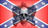 Confederate Skull Novelty Wholesale Motorcycle License Plate MP-2406